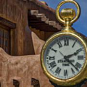 Santa Fe Plaza Clock Poster