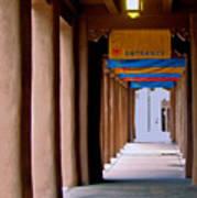 Santa Fe Sidewalk Poster