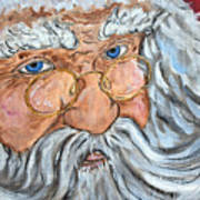 Santa - Merry Christmas Art Poster