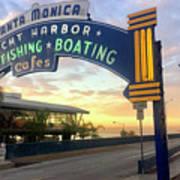 Santa Monica Yacht Harbor Sign Poster