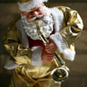 Santa Playing The Saxaphone Poster