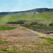 Santa Ynez Mountains Green Hills Ranch Poster