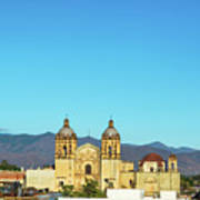 Santo Domingo Church And Hills Poster