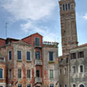 Santo Stefano Venice Leaning Tower Poster