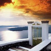 Santorini - The Gate Poster