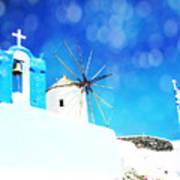 Santorini 1 Poster