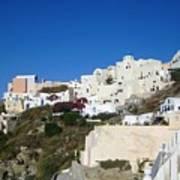 Santorini Architecture Poster