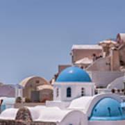 Santorini Church In Oia Poster