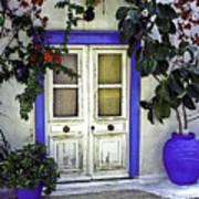 Santorini Doorway 1 Poster