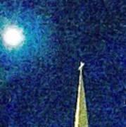 Sapphire Moon Glow Poster