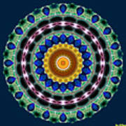 Sapphire Necklace Mandala Poster
