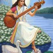 Sarasvati Poster by Sue Halstenberg