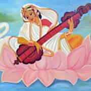 Saraswati Poster by Shruti Prasad