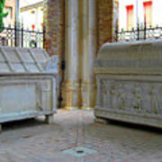 Sarcophagi At Dante's Tomb Poster