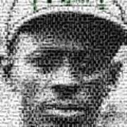 Satchel Paige Kc Monarchs African American Mosaic Poster