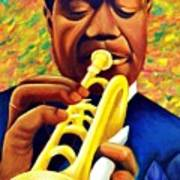 Satchmo, Louis Armstrong Painting Poster