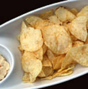 Satisfy The Craving With Chips And Dip Poster