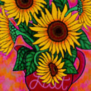 Saturday Morning Sunflowers Poster