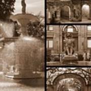 Savannah Landmarks In Sepia Poster