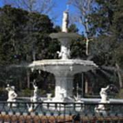 Savannah Square Fountain Poster