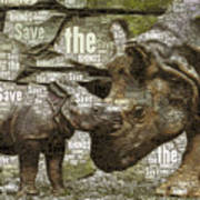 Save The Rhinos Poster