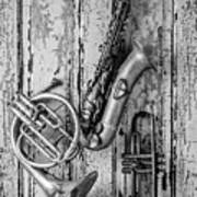 Sax French Horn And Trumpet Poster
