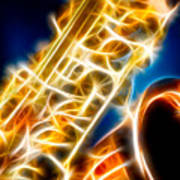 Saxophone 2 Poster by Hakon Soreide