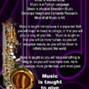 Saxophone Photographs Or Pictures For T-shirts Why Music 4819.02 Poster