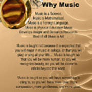 Saxophone Photograph Why Music For T-shirts Posters 4827.02 Poster