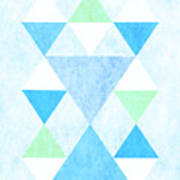 Scandi Blue Poster