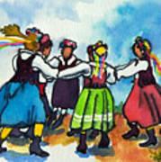 Scandinavian Dancers Poster by Kathy Braud