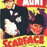 Scarface 1932 French Revival Unknown Date Poster
