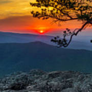 Scarlet Sky At Ravens Roost Panorama I Poster
