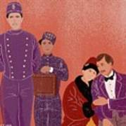Scene From Grand Budapest Hotel Poster