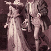 Scene From Much Ado About Nothing By William Shakespeare Poster
