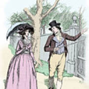 Scene From Sense And Sensibility By Jane Austen Poster