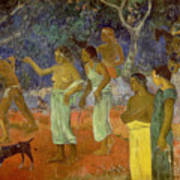 Scene From Tahitian Life Poster