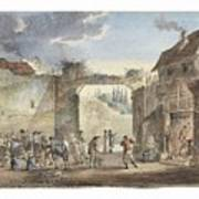 Scene In A Courtyard Poster