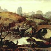 Scene In Central Park Poster