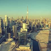 Scenic Aerial View Of Dubai Poster
