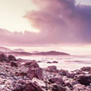 Scenic Seaside Sunrise Poster
