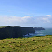 Scenic Views Of The Cliff's Of Moher In Ireland Poster
