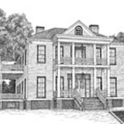 Schluter House In Jefferson Texas Poster by Mickie Moore
