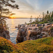 Schoodic Point Sunset Poster
