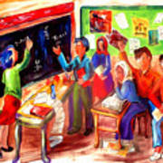 School Days In Morocco Poster