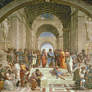 School Of Athens From The Stanza Della Segnatura Poster by Raphael