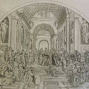 School Of Athens/ Homage To Raphael Poster