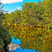Schroon River Reflection In The Adirondacks-new York Poster