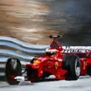 Schumacher Monaco Poster