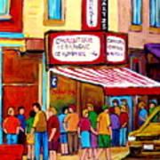 Schwartzs Hebrew Deli Montreal Streetscene Poster